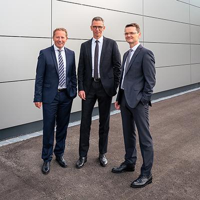 Picture of Hans-Gerd Claus, Michael Lücke, Markus Ruf , CEO of Bertrandt