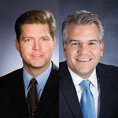 Picture of David Curtis and Justin DeWitte, CEO of AHN Healthcare@Home