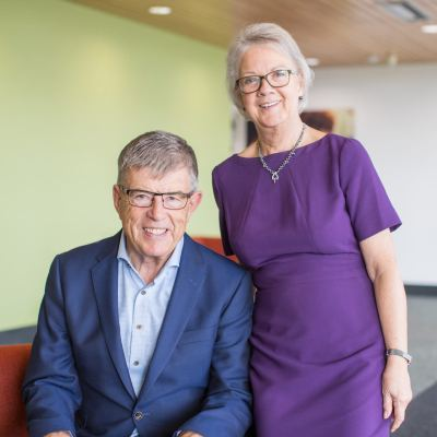 Picture of Doug and Mary Perkins, CEO of Specsavers