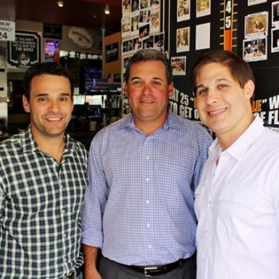 Picture of Sean, Mark, & Dave, CEO of Pluckers Wing Bar