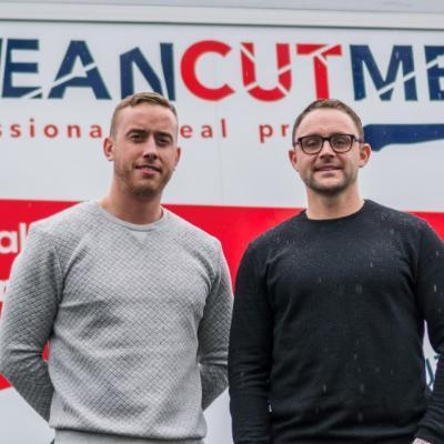 Picture of Micheal Dyer and Conor McCallion, CEO of Clean Cut Meals