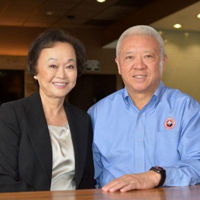 Picture of Andrew and Peggy Cherng, CEO of Panda Restaurant Group