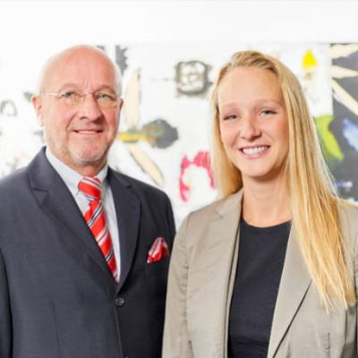 Picture of Professor Dr. Alfred Neher & Sofía Neher, CEO of Star Cooperation GmbH
