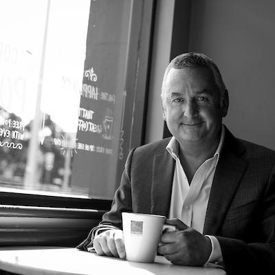 Picture of Harry O' Kelly, CEO of Insomnia Coffee Company