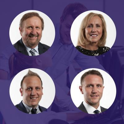 Picture of Derek, Mary, Mark and David Attwell, CEO of Future Education