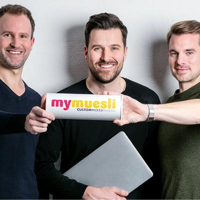 Picture of Hubertus Bessau, Philipp Kraiss und Max Wittrock, CEO of mymuesli GmbH
