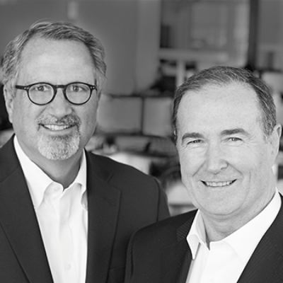 Picture of Tom Powers and David Bourke, CEO of IA Interior Architects