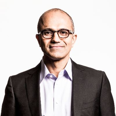 Picture of Satya Nadella, CEO of マイクロソフト