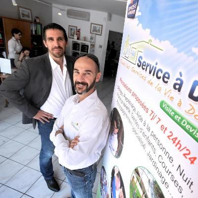 Portrait de Jean-thomas & Grégory, PDG chez Service A Dom