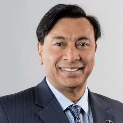 Headshot of Lakshmi Mittal, CEO of ArcelorMittal