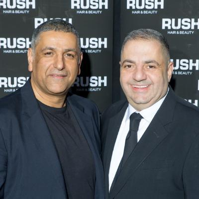 Picture of Our founders Andy and Stell, CEO of RUSH Hair and Beauty