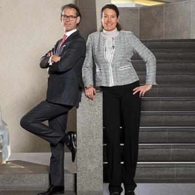 Picture of  Geraldine Matchett and Dimitri de Vreeze, CEO of DSM