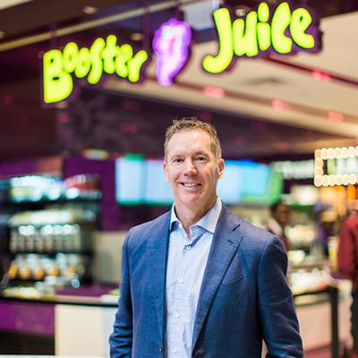 Picture of Dale S. Wishewan, CEO of Booster Juice