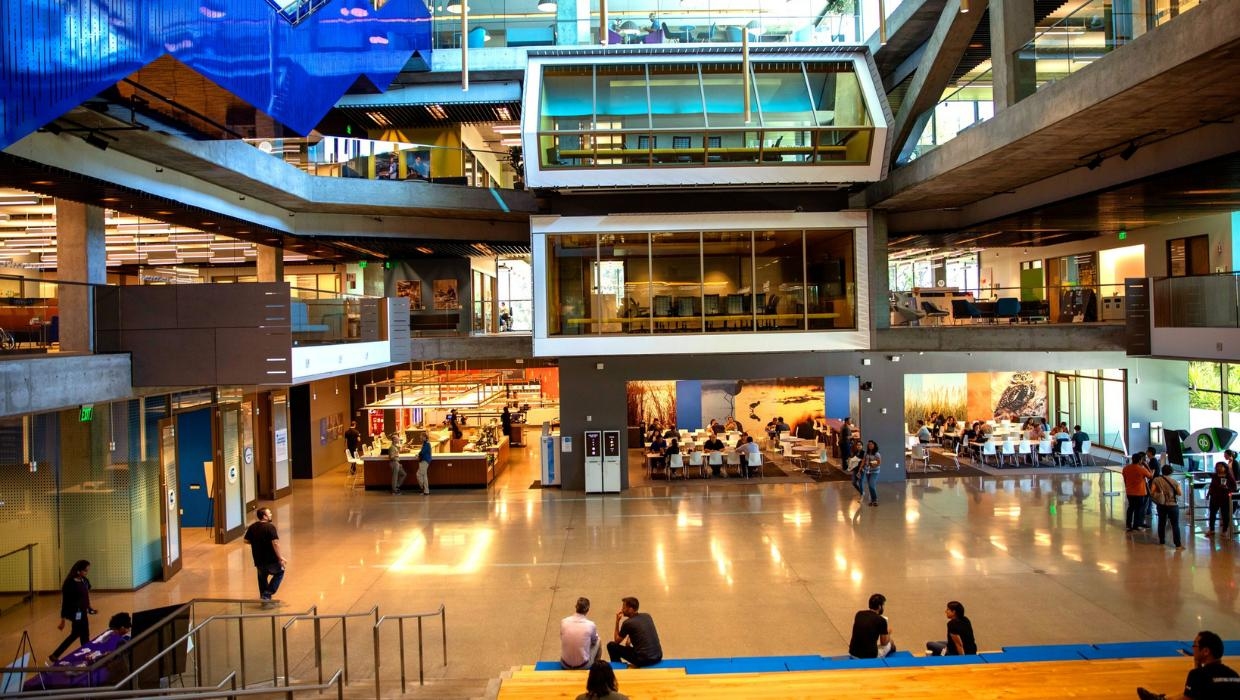Interior of Intuit's main building at our Mountain View headquarters
