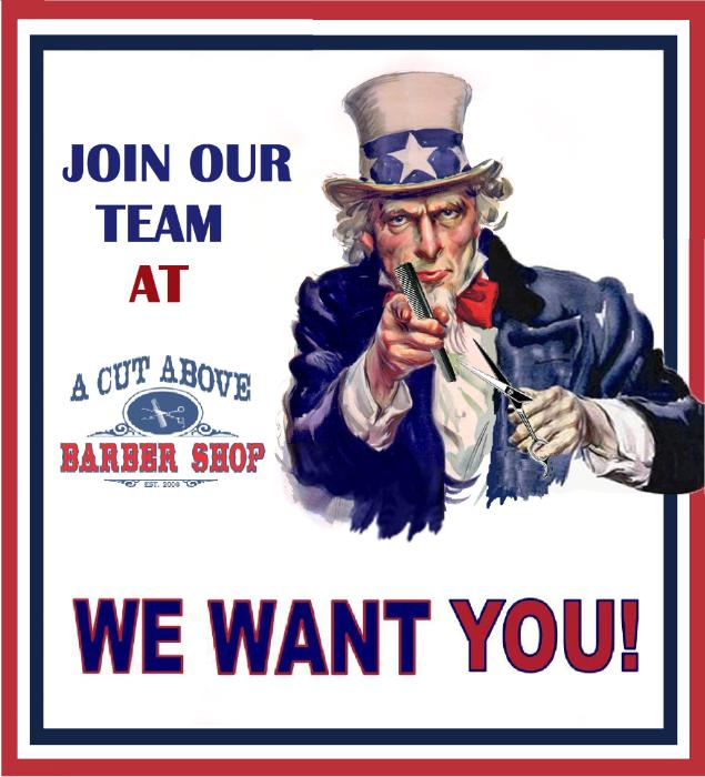 A cut above barber shop careers and employment for A cut above grooming salon