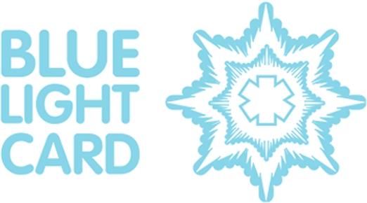logo for blue light discount