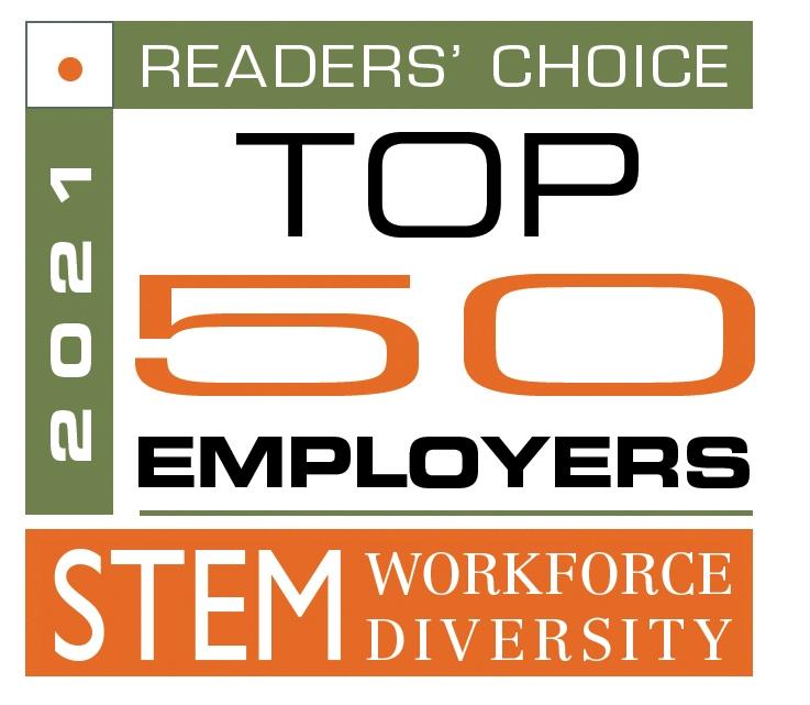 TOP 50 EMPLOYERS WORKFORCE DIVERSITY 2021 READER'S CHOICE