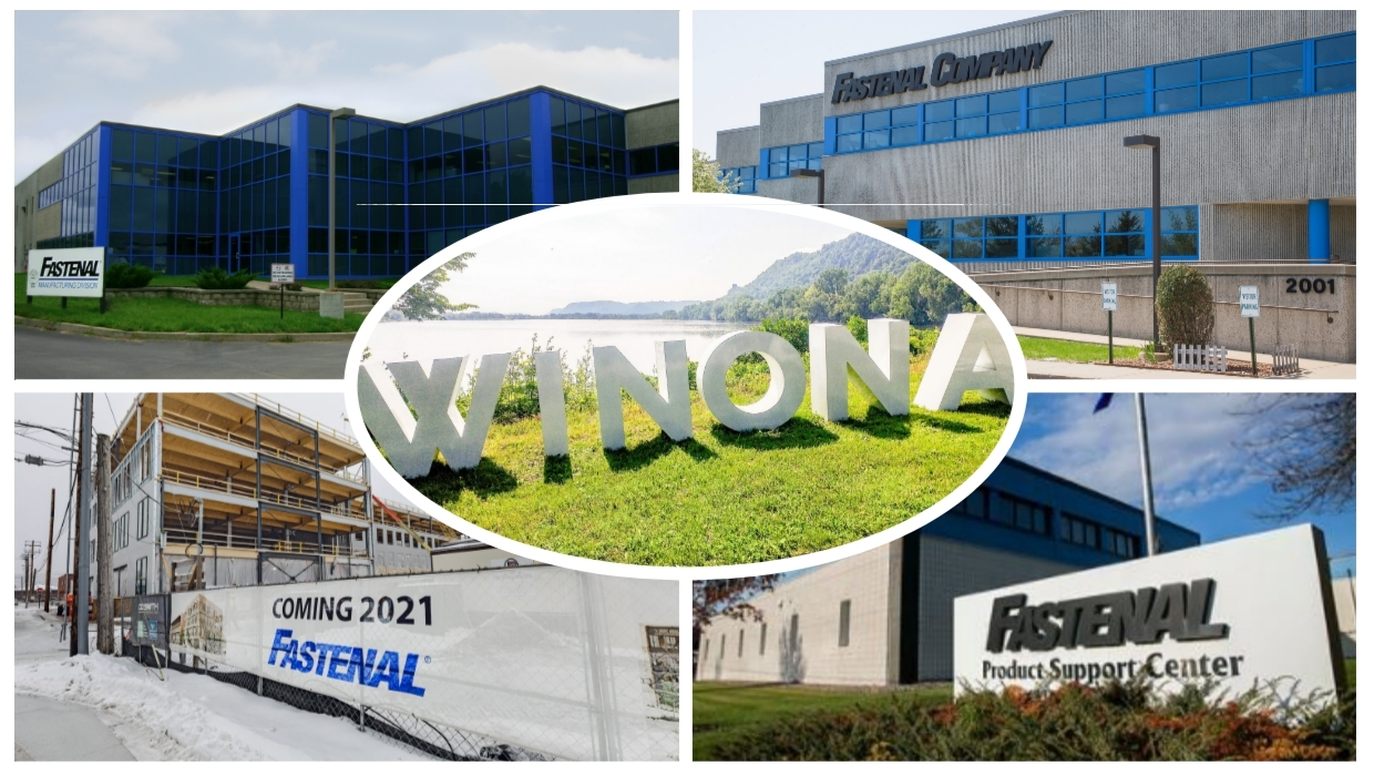 Fastenal's global headquarters is in Winona, MN and is offices approximately 1,200 team members.