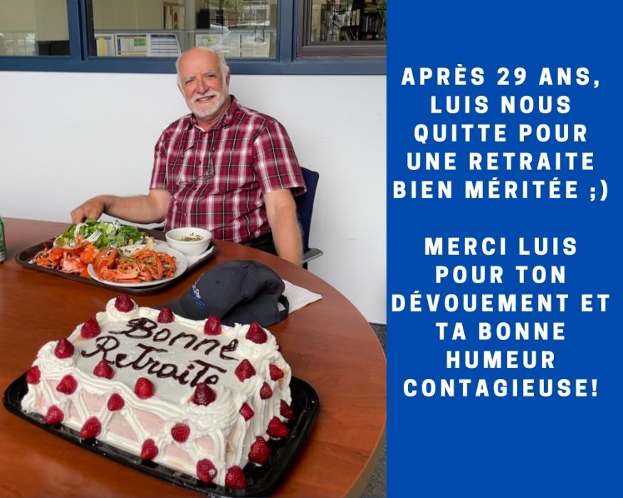Merci Luis pour ses 29 belles années!