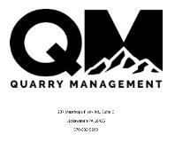 Quarry Management Holdings, LLC