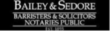 Bailey and Sedore, Barristers & Solicitors, Notaries Public