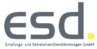 ESD Empfangs- und SekretariatsDienstleistungen GmbH-Logo