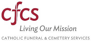Catholic Funeral and Cemetery Services