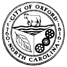 City of Oxford, NC logo