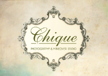 Chique Photography and Makeover studios logo