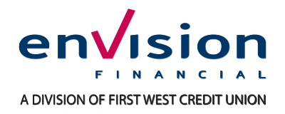 Logo Envision Financial, a division of First West Credit Union