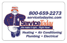 Service Today, Heating, Air Conditioning, Plumbing and Electrical logo