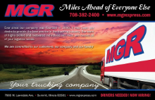 MGR FREIGHT SYSTEMS logo