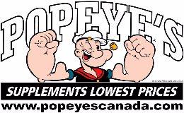 Popeye's Supplements logo