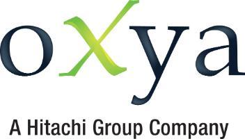 oXya - a Hitachi Group Company logo