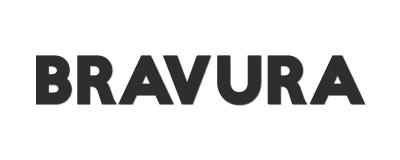Logotyp för Bravura