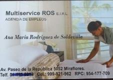 logotipo de la empresa MULTISERVICES ROS