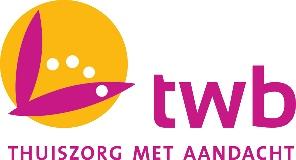 Logo van TWB Thuiszorg met Aandacht