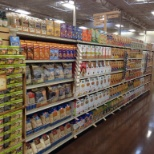Cereal section is set up in new Longmont store.