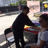 Phlebotek Phlebotomy Staffing photo: Drawing blood at pride