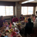 During our Easter Fruit basket making in the hotel