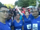 Collabera employees after the Verizon corporate 5k.