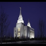 Kansas City Missouri Temple by night