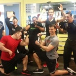 California Family Fitness photo: Team builder workout!