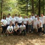 Our team volunteered to clean up a park outside of Boston, Global Impact Week 2015