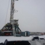 H&P drilling photo: winter time