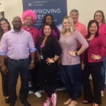 "photo de l'entreprise Diamond Resorts, HR & Recruiting Team ""pinked up"" and ready for the Annual Breast Cancer Awareness Walk @ the office"