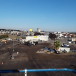 From an aerial lift overlooking the yard