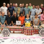 vAuto's Canstruction competition, building art with food donated by employees