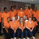 Team photo 2009. Love the orange? And wasn't even Halloween!