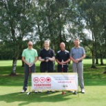 The Knaresborough team in the annual charity golf day, where they raised nearly £3,000!